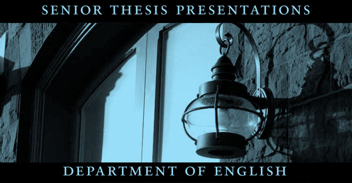 english major senior thesis Home english department about the department's offerings about the major honors thesis the honors thesis in english each year, a few english majors write senior.
