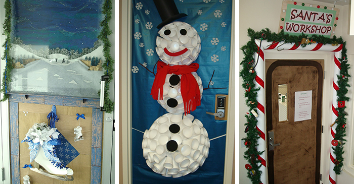 Innovative  Notre Dame School Talent Show 2013 Christmas Door Decorating Contest