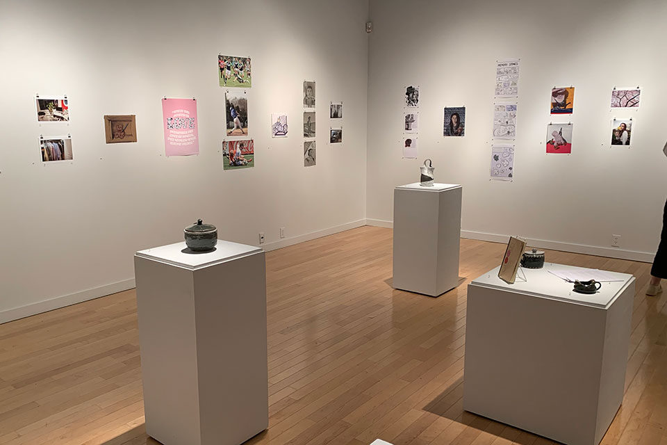 Hamilton Gallery re-opens to public with Best of Salve Students 2021 art show